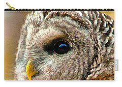 Carry-all Pouch featuring the photograph Woodland Owl by Adam Olsen