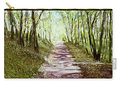 Woodland Path - Impressionism Landscape Carry-all Pouch by Barry Jones