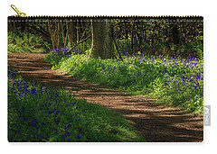 Woodland Path Lined By Bluebells Carry-all Pouch
