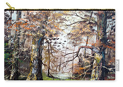 Carry-all Pouch featuring the painting Woodland Pond  by Lee Piper