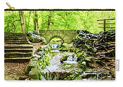 Woodland Steps And Stream Carry-all Pouch