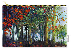 Carry-all Pouch featuring the painting Woodland Trail by Hailey E Herrera