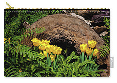 Carry-all Pouch featuring the photograph Woodland Tulip Garden by Tom Mc Nemar