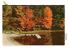 Woodlands On The Lake Carry-all Pouch by Michelle Calkins