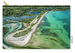 Carry-all Pouch featuring the photograph Woodneck Beach by Michael Hughes