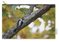 Woodpecker And Autumn Carry-all Pouch