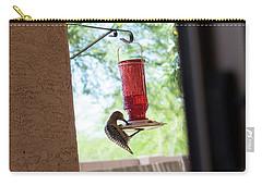 Woodpecker Having A Drink Carry-all Pouch by Carolina Liechtenstein