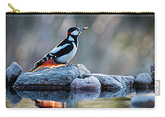Woodpecker In Backlight Carry-all Pouch by Torbjorn Swenelius