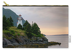 Woody Point Lighthouse - Bonne Bay Newfoundland At Sunset Carry-all Pouch by Art Whitton