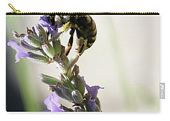 Carry-all Pouch featuring the photograph Wool Carder by Rasma Bertz