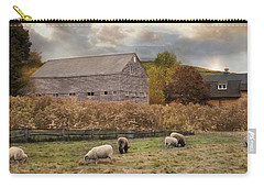 Carry-all Pouch featuring the photograph Woolen Fields by Robin-Lee Vieira