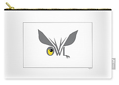 Word Art - Great Horned Owl Carry-all Pouch by Betty Denise
