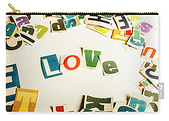 Word Of Love Carry-all Pouch