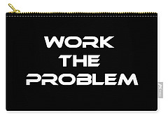 Work The Problem The Martian Tee Carry-all Pouch by Edward Fielding