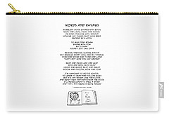 Carry-all Pouch featuring the drawing Words And Rhymes by John Haldane