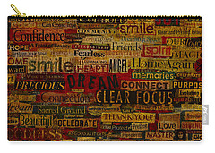 Carry-all Pouch featuring the mixed media Words Matter by Gloria Rothrock