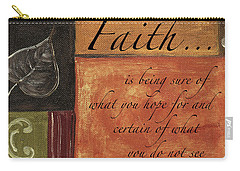 Words To Live By Faith Carry-all Pouch