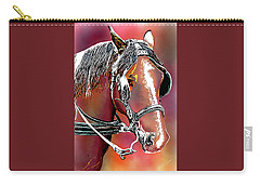 Workhorse Portrait Painting I Carry-all Pouch