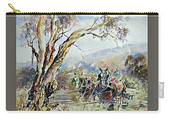 Working Clydesdale Pair, Australian Landscape. Carry-all Pouch