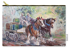 Working Clydesdale Pair, Victoria Breweries. Carry-all Pouch