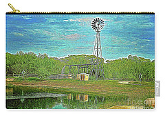 Carry-all Pouch featuring the photograph Working Windmill  by Ray Shrewsberry