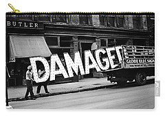 Workmen Hauling Damaged Sign Walker Evans Photo New York City 1930 Color Added 2008 Carry-all Pouch