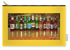 Carry-all Pouch featuring the photograph World Beers By Kaye Menner by Kaye Menner