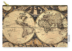 World Map 1666 Carry-all Pouch by Andrew Fare