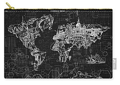 World Map Blueprint 2 Carry-all Pouch