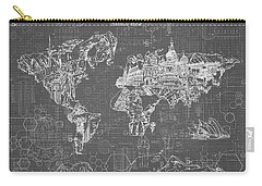 World Map Blueprint 5 Carry-all Pouch