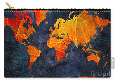 World Map - Elegance Of The Sun - Fractal - Abstract - Digital Art 2 Carry-all Pouch
