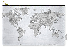 World Map Music 10 Carry-all Pouch