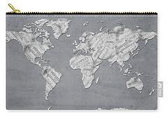 World Map Music 11 Carry-all Pouch by Bekim Art