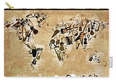 Carry-all Pouch featuring the digital art World Map Music 4 by Bekim Art