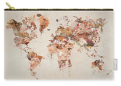 World Map Watercolor Carry-all Pouch