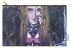 Carry-all Pouch featuring the painting World Of Hurt by Reed Novotny