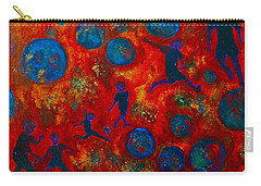 Carry-all Pouch featuring the painting World Soccer Dreams 2 by Claire Bull