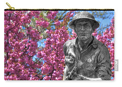 Carry-all Pouch featuring the photograph World War I Buddy Monument Statue by Shelley Neff