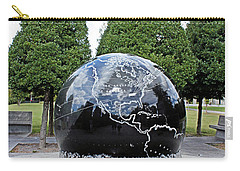 World War II Globe Bicentennial Tennessee Carry-all Pouch by Kristin Elmquist