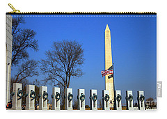 World War II Memorial And Washington Monument Carry-all Pouch