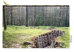 Carry-all Pouch featuring the photograph World War One Trenches by Travel Pics