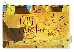 Worlds Largest Sand Castle Sun News Carry-all Pouch by Bob Pardue