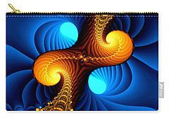 Carry-all Pouch featuring the digital art Wormhole by Svetlana Nikolova