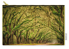 Carry-all Pouch featuring the photograph Wormsloe Drive by Phyllis Peterson