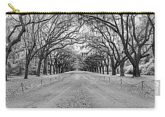 Carry-all Pouch featuring the photograph Wormsloe Pathway by Jon Glaser