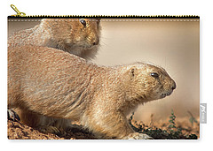 Worried Prairie Dog Carry-all Pouch by Robert Frederick