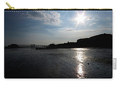 Worthing Pier Silhouette 2 Carry-all Pouch by John Topman