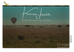 Would You Like To Fly In My Beautiful Balloon? Carry-all Pouch by Karen Lewis