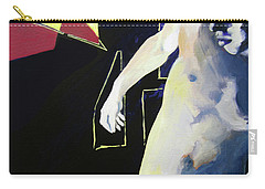 Carry-all Pouch featuring the painting Wounded Spaces by Rene Capone