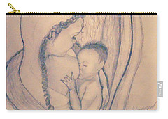 Wrapped Within The Angel Wings Of Momma Carry-all Pouch by Talisa Hartley